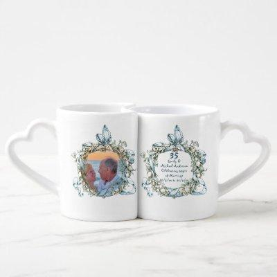 ANY Wedding Anniversary Commemorative Coffee Mug Set