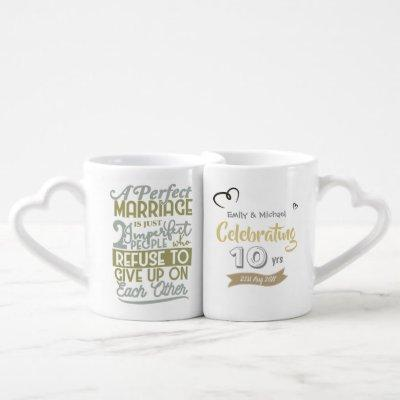 ANY Wedding Anniversary COUPLES Personalized MUGS