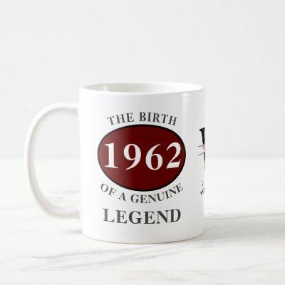 Any Year Born In Monogram Add Your Name Birthday Coffee Mug