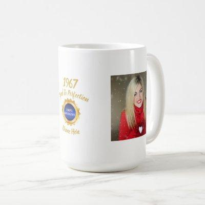ANY Year Born PHOTO AWARD Him or Her Personalized Coffee Mug
