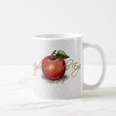 Apple of God's Eye, Christian Coffee Mug