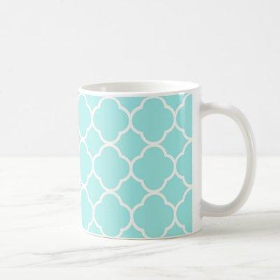Aqua Blue Moroccan Pattern Coffee Mug