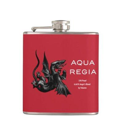 Aqua Regia Flask - Red Background