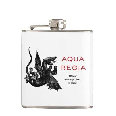 Aqua Regia Flask - White Background