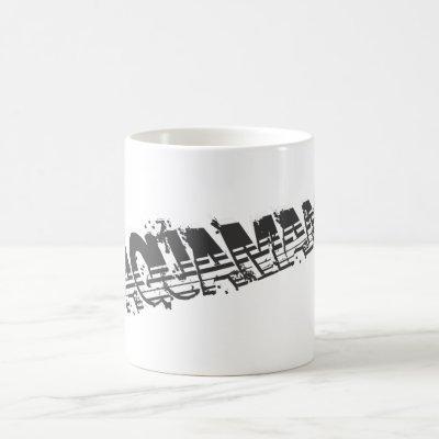 Aquaman Grunge Stripe Logo Coffee Mug