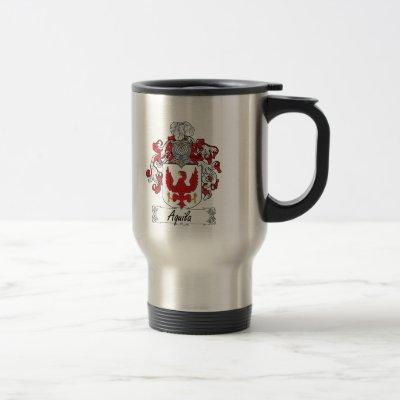 Aquila Family Crest Travel Mug