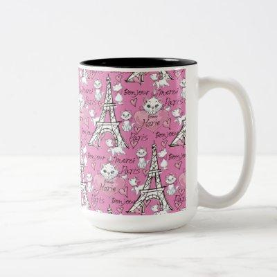 Aristocats | Marie Paris Pattern Two-Tone Coffee Mug