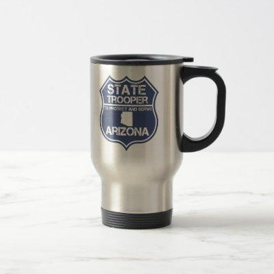 Arizona State Trooper To Protect And Serve Travel Mug
