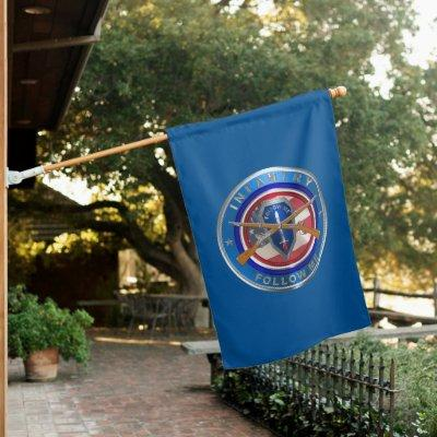 Army Veteran Infantry  House Flag