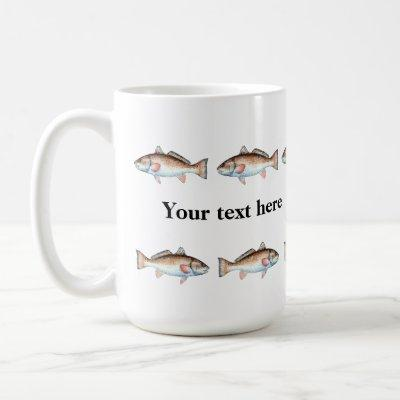 Artistic Redfish in a Line Personalized Mug