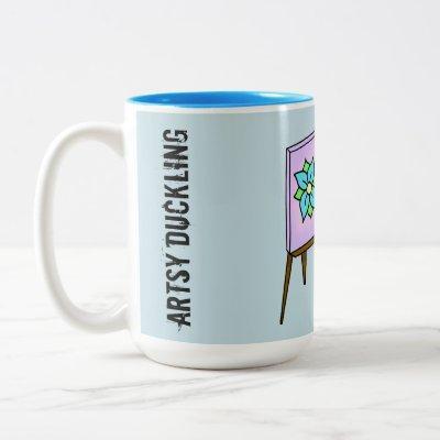 Artsy Duckling Customizable Artist Coffee Mug