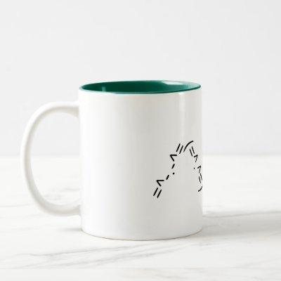 Ascii cat ear mug