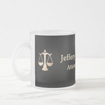 Attorney At Law Frosted Glass Coffee Mug