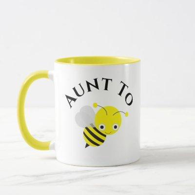 Aunt To Be Bee New Aunt Pregnancy Announcement Mug