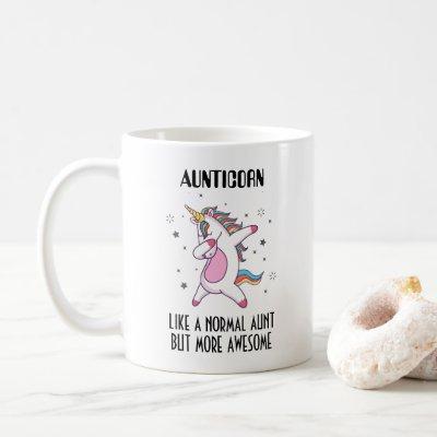 Aunticorn Gift For Aunt Coffee Mug