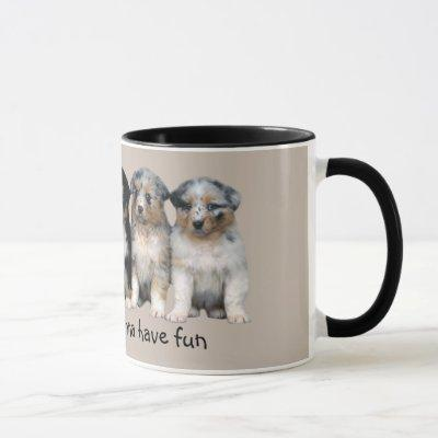 Australian Shepherd Puppies Mug