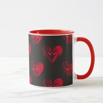 Autobot & Decepticon Valentine Heart Pattern Mug