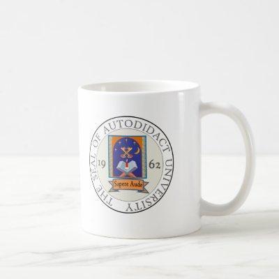 Autodidact University Seal Coffee Mug