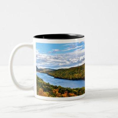 """Autumn at Lake of the Clouds"" Two-Tone Coffee Mug"