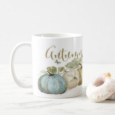 Autumn Blue Pumpkin Coffee Mug