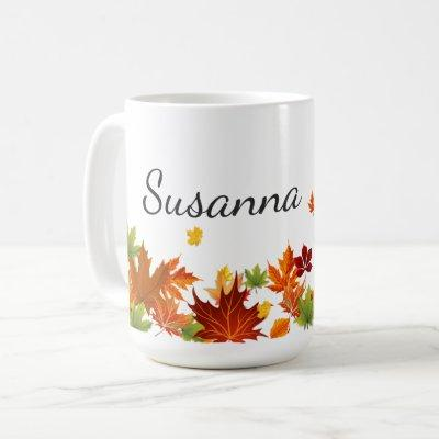 Autumn Fall Leaf Maple Coffee Mug