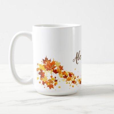 Autumn Fall Leaf Maple Coffee Mug