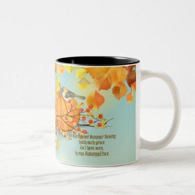 Autumn Grace Two-Tone Coffee Mug
