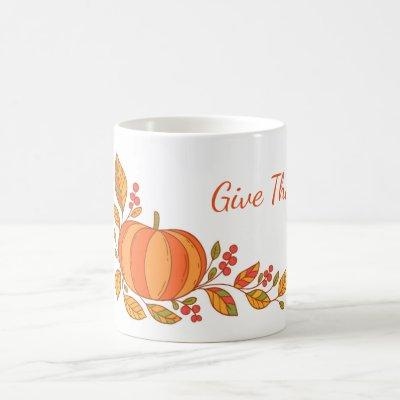 Autumn Mug-Give Thanks Coffee Mug