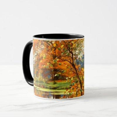 Autumn Scenery Painting Gift Mugs