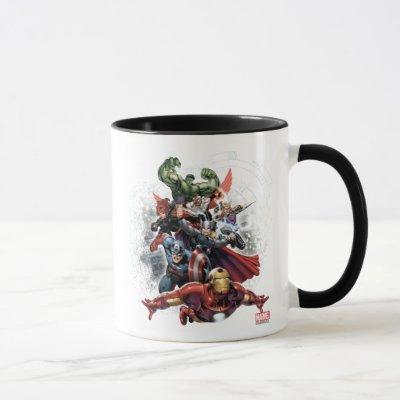 Avengers Attack Graphic Mug