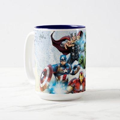 Avengers Classics   Avengers Prepared To Attack Two-Tone Coffee Mug