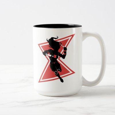 Avengers Classics | Black Widow Icon Graphic Two-Tone Coffee Mug