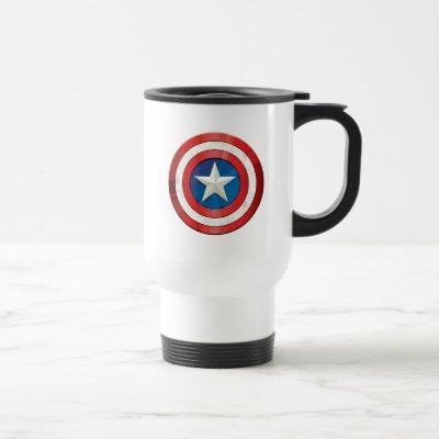 Avengers Classics | Captain America Brushed Shield Travel Mug