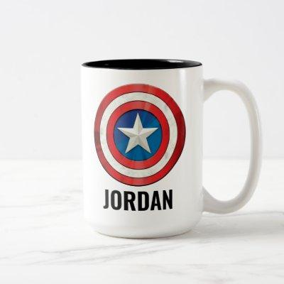 Avengers Classics | Captain America Brushed Shield Two-Tone Coffee Mug
