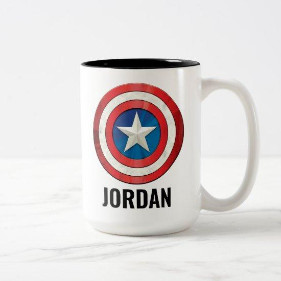 Avengers Classics | Captain America Brushed Shield Two-Tone Coffee Mug