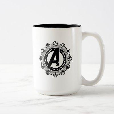 Avengers Classics   Earth's Mightiest Heroes Icons Two-Tone Coffee Mug