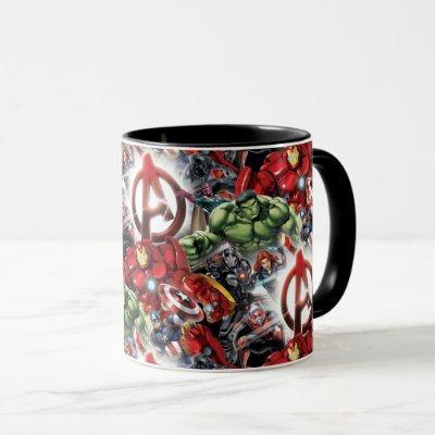 Avengers Classics | Glowing Logo Avengers Group Mug