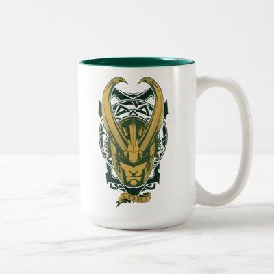 Avengers Classics | Norse Loki Graphic Two-Tone Coffee Mug