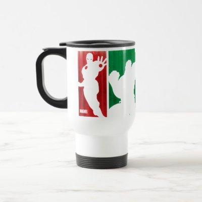 Avengers Classics   Paint Swatch Silhouettes Travel Mug