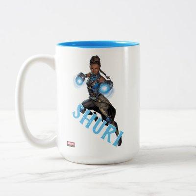 Avengers Classics | Shuri Leap With Gauntlets Two-Tone Coffee Mug