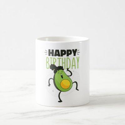 Avocado birthday gift coffee mug