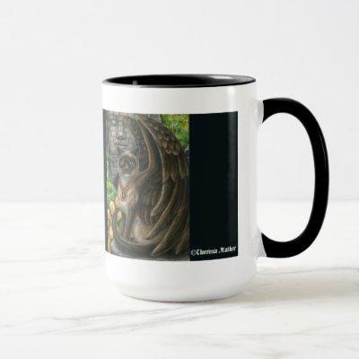 Awareness Winged Cat Mug