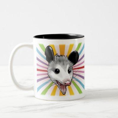 Awesome Possum Two-Tone Coffee Mug