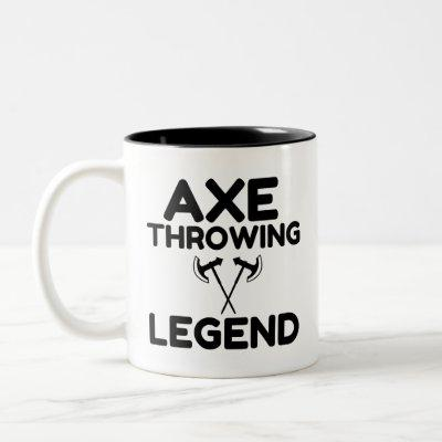 AXE THROWING LEGEND Two-Tone COFFEE MUG