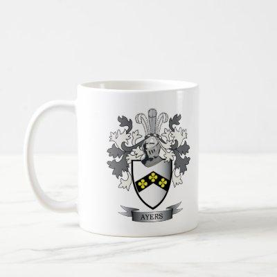 Ayers Family Crest Coat of Arms Coffee Mug