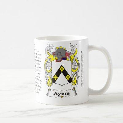 Ayers, the origin, meaning and the crest coffee mug