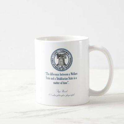 Ayn Rand Quote (Totalitarianism) Coffee Mug