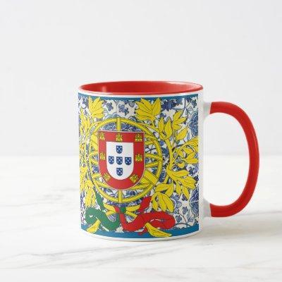Azulejo Mug with Portuguese Crest