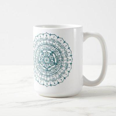 Azure Celtic Ogham Wheel Coffee Mug