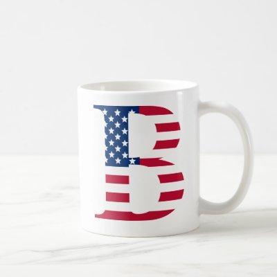 B Letter Patriotic White 11 oz Classic Mug